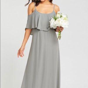 Show Me Your Mumu Gray Bridesmaid Dress